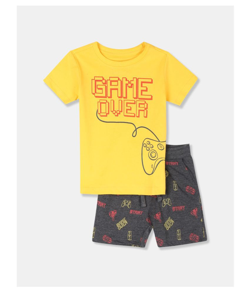 Boys Assorted Printed T-Shirt And Shorts Set