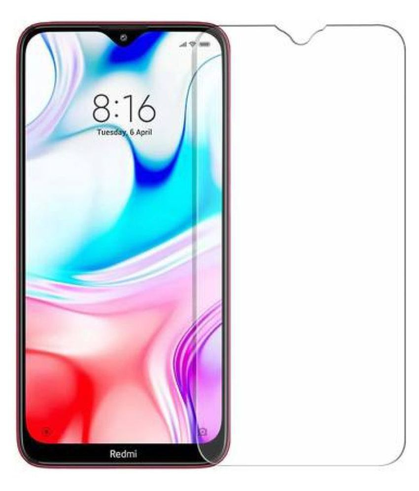 Xiaomi Redmi Note 8 Tempered Glass Screen Guard By lenmax UV Protection, Anti Reflection