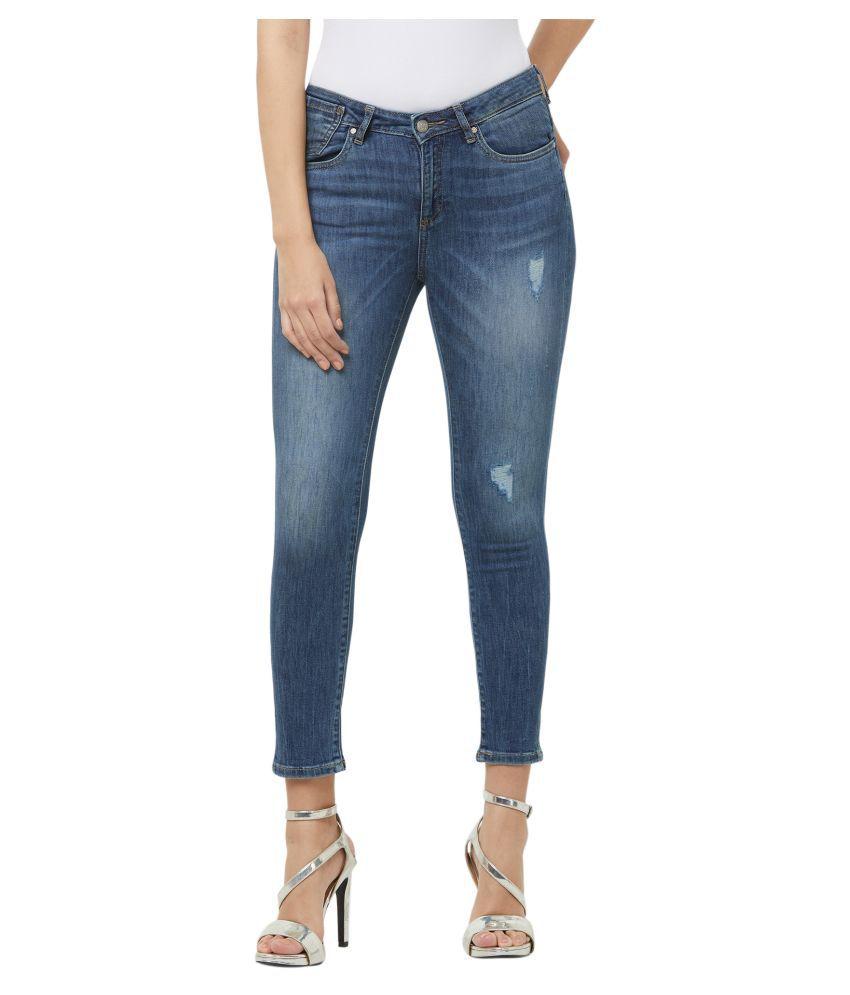 Fusion Beats Cotton Jeans - Blue