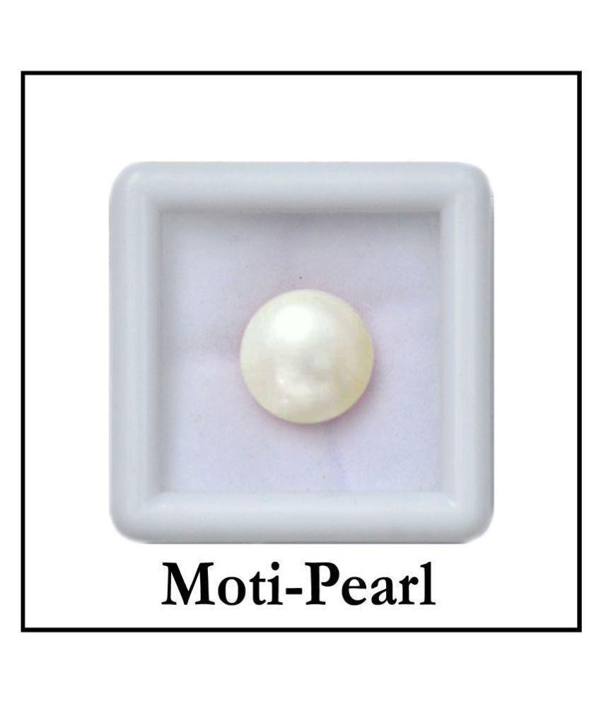 SARVNI GEMS 6.25 -Ratti AGL White Pearl Precious Gemstone