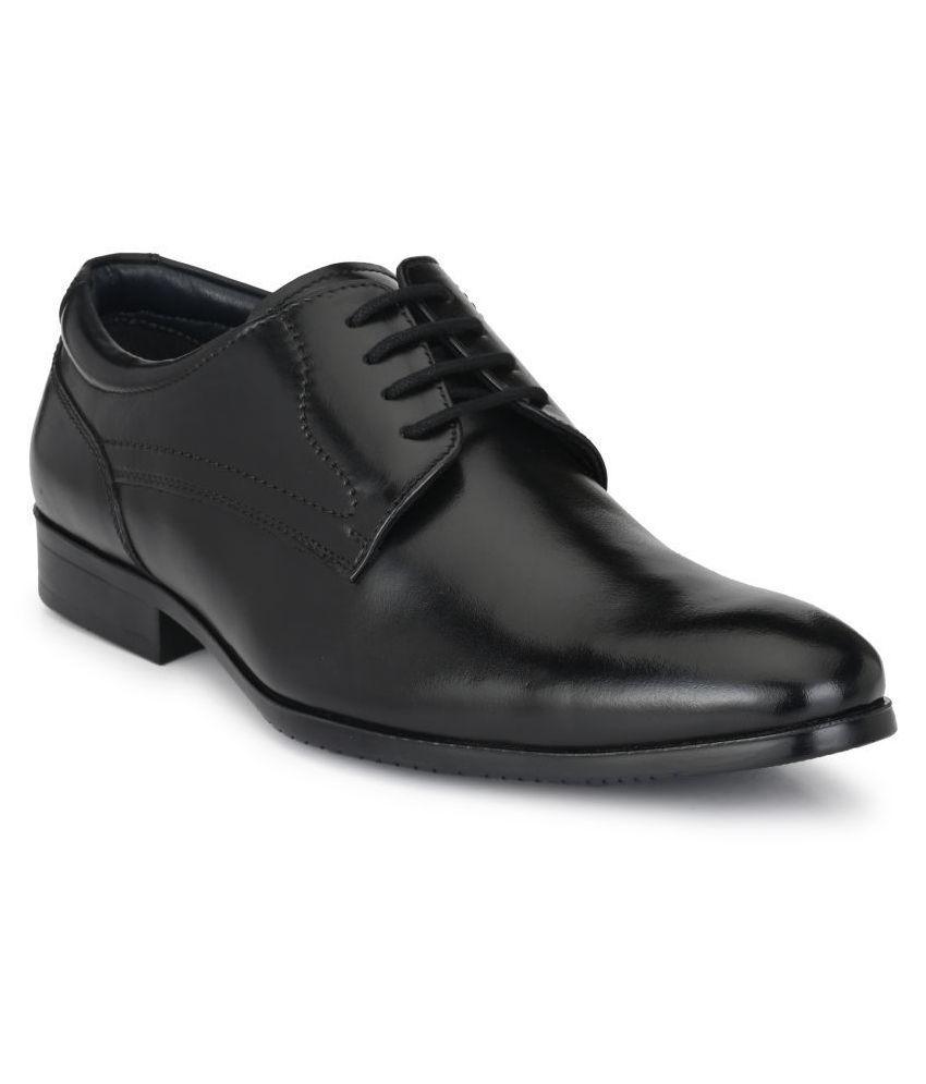 AVANTHIER Derby Genuine Leather Black Formal Shoes