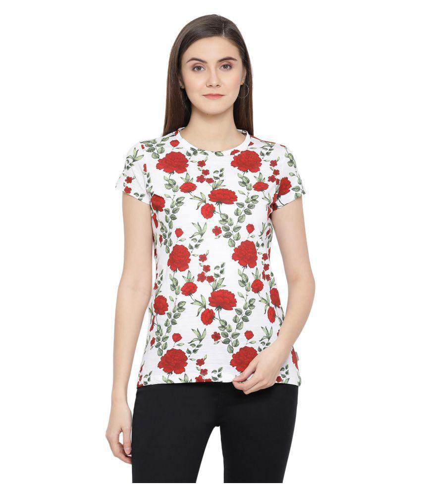 Crimsoune Club Cotton White T-Shirts