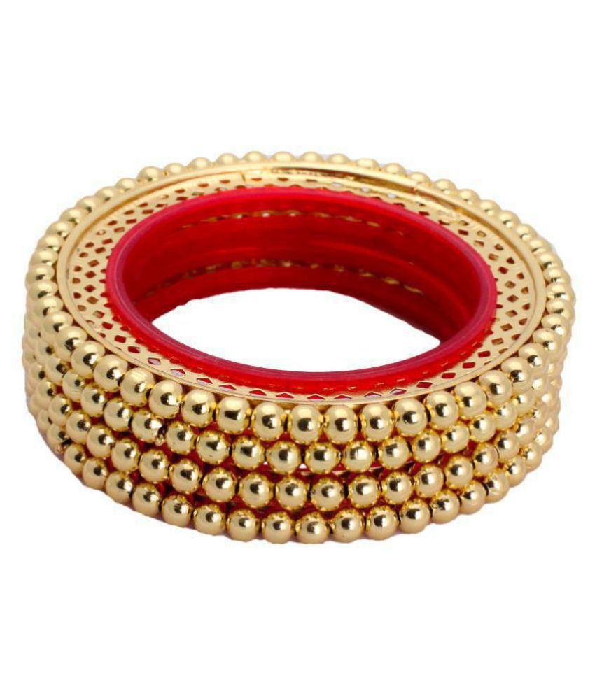 Piah Graceful Indian Bangals Bollywood Traditional Ethinic Gold Plated Bangels