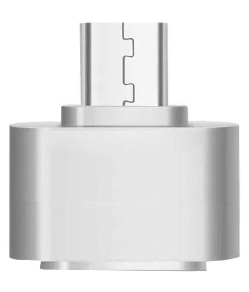 Silver Micro USB OTG to USB 2.0 Adapter for Smartphones and Tablets  Pack of 1  By SANRIYO