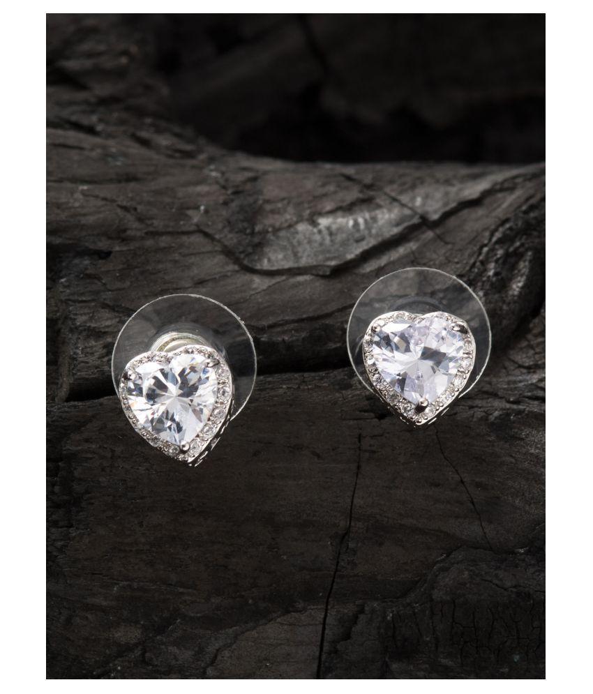 E2O Rhodium Plateddiamond Stud Earring