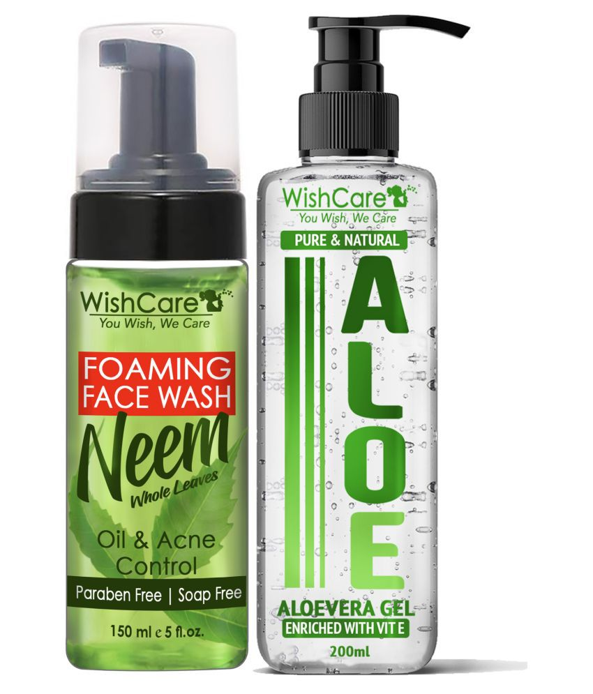 WishCare Foaming Neem Face Wash & Pure and Natural Aloe Vera Gel