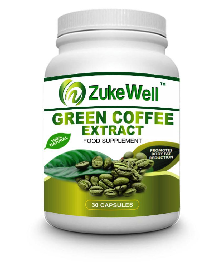 zukewell Green Coffee Beans Extract for Weight Loss 500 mg Fat Burner Capsule