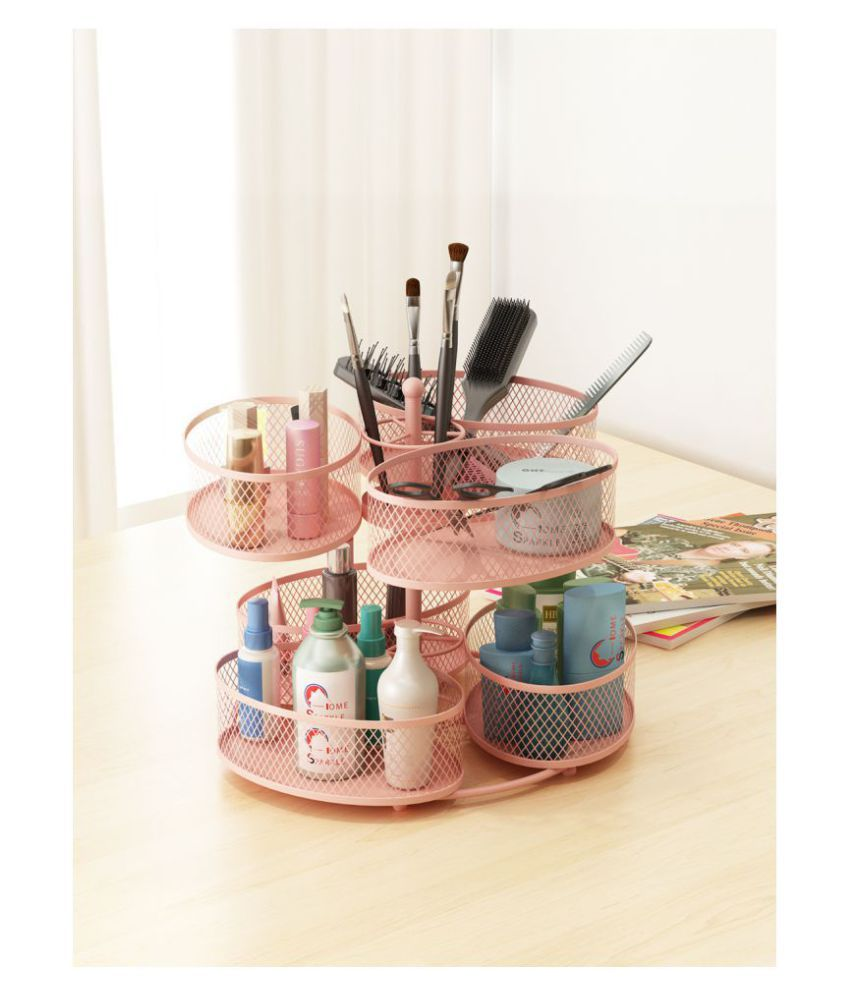 Home Sparkle Rotating Makeup Organiser