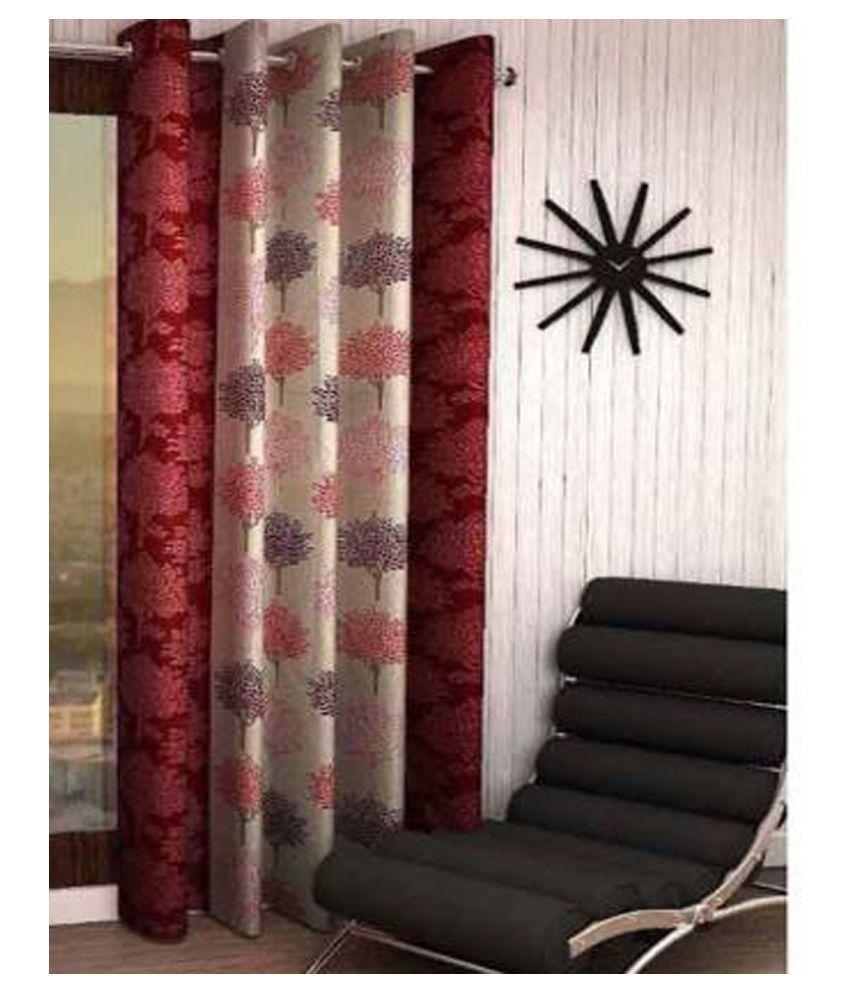 Zatchbell Single Window Semi-Transparent Eyelet Polyester Curtains Beige