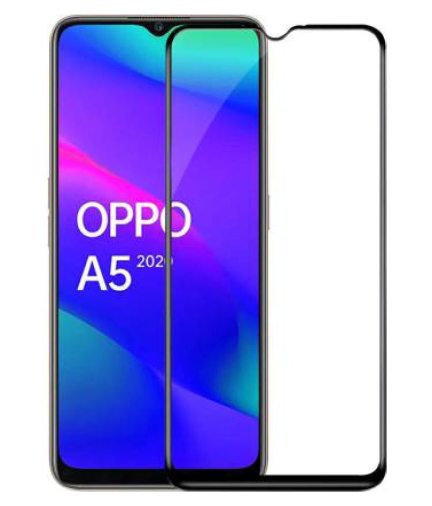 Oppo A5 2020 Tempered Glass Screen Guard By Ravbelli EDGE TO EDGE FULL COVERAGE