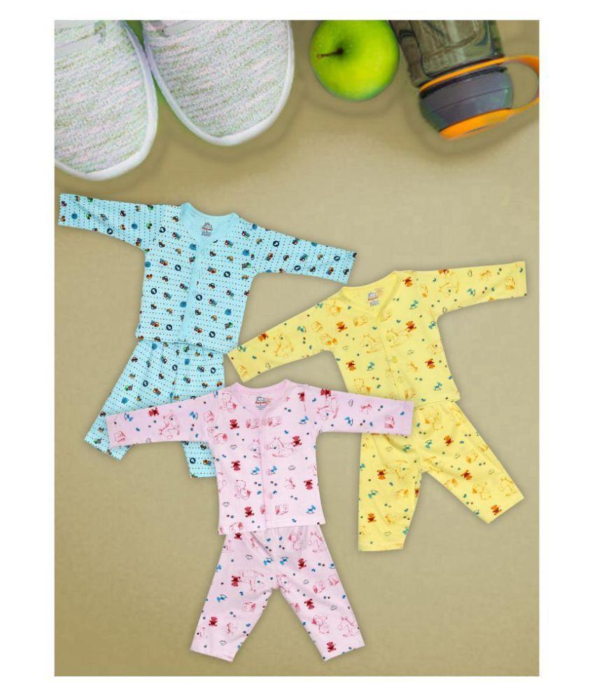 AATUMN KIDS WEAR 100% Cotton Latest Fashion Top bottom sets