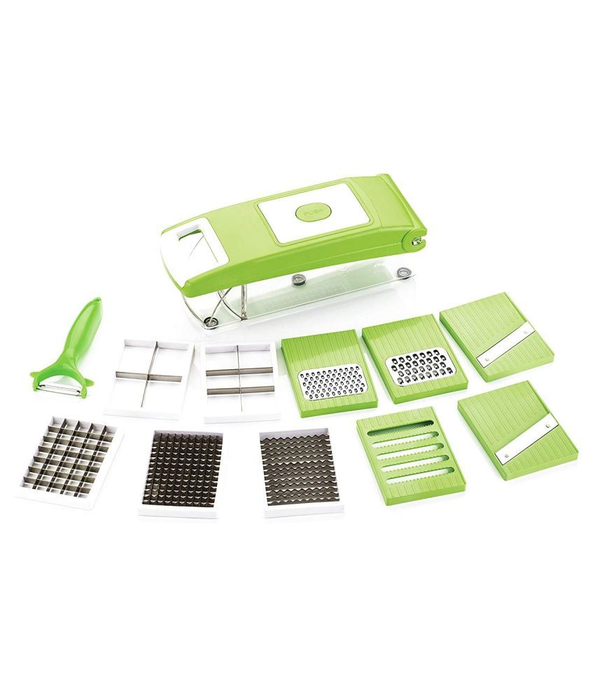 Famous 11 in 1 High Quality and Easy To Use Fruit & Vegetable Cutter - Chopper, Dicer ,Grater, Slicer, - All In One