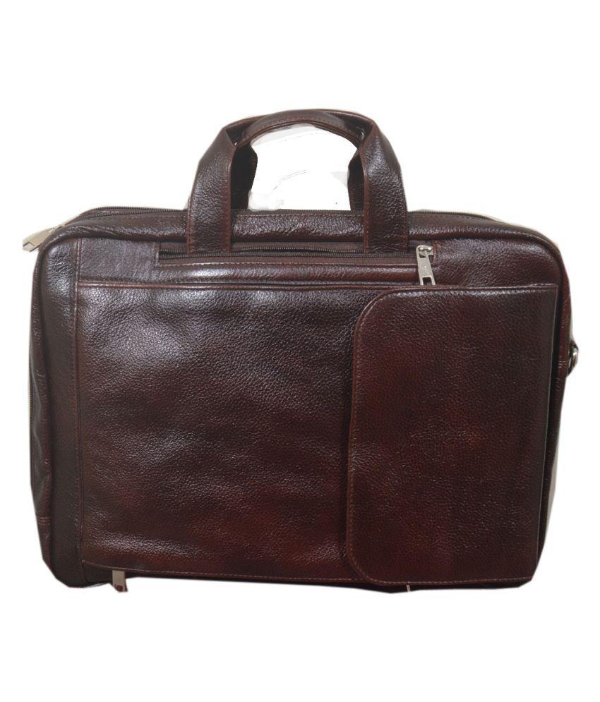Green Hide Office Messenger Bag Brown Leather Office Messenger Bag