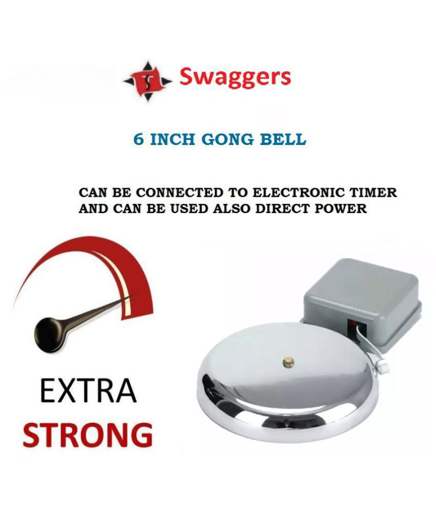 school electric gong bell- 6 inch can be connected to electronic timer