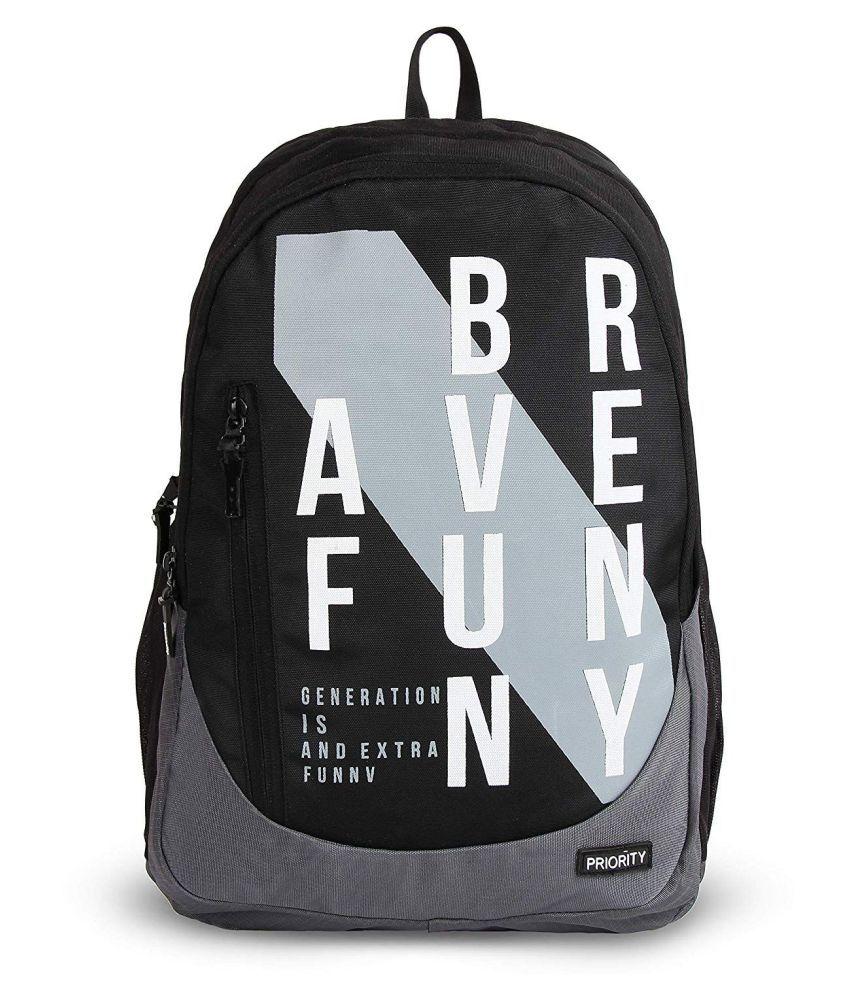Priority Grey School Bag for Boys & Girls