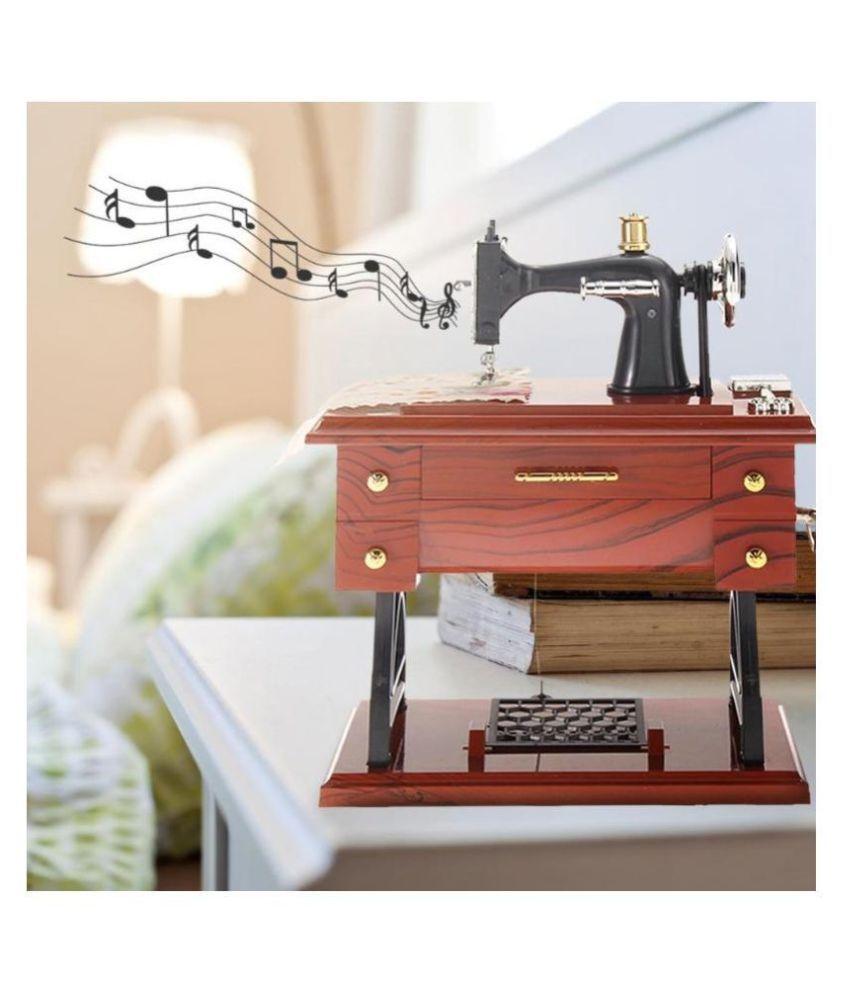 Home Sewing Machines Mini Vintage Lockwork Sewing Machine Music ...