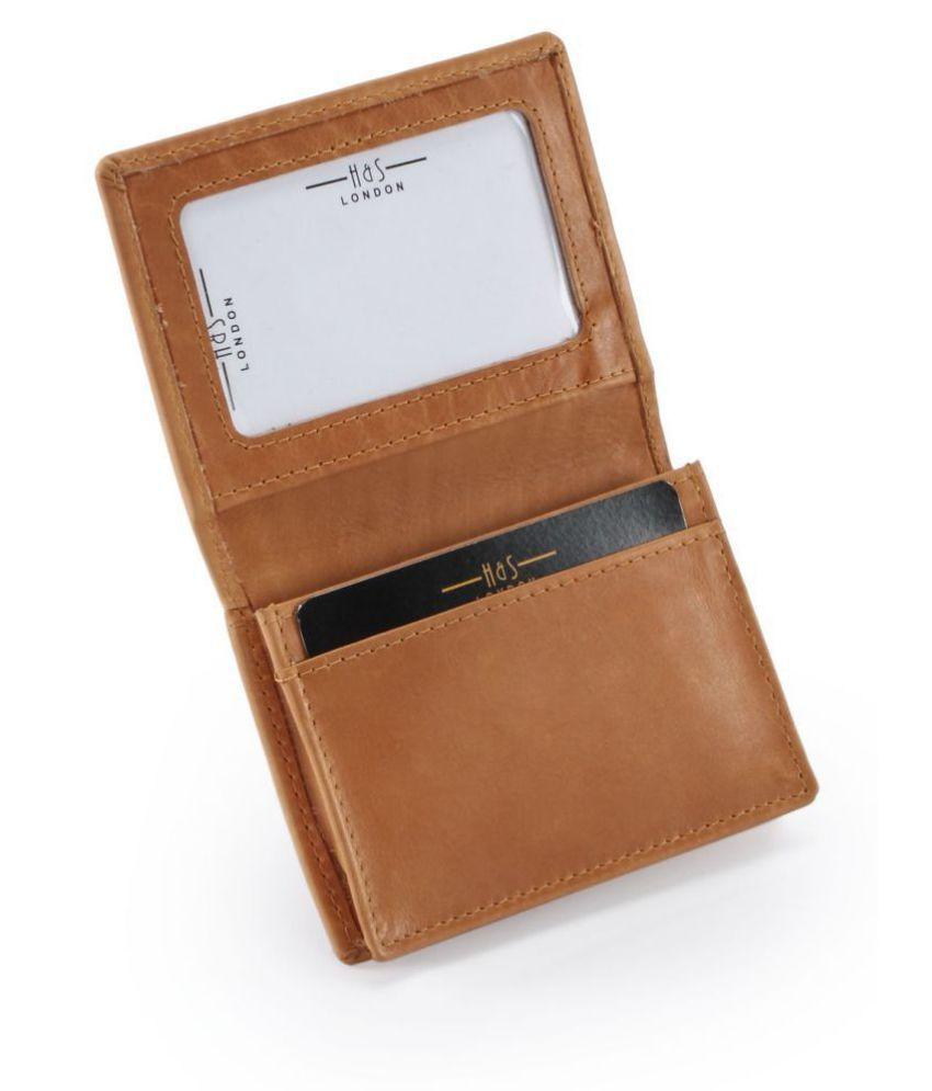 Hide amp;Sleek Leather Brown Casual Regular Wallet