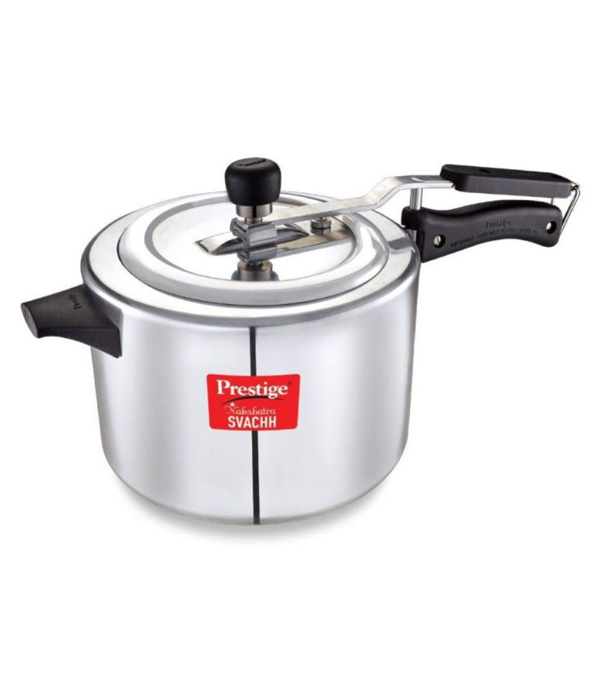 Prestige NakshatraPlus Svachh 5 L Aluminium InnerLid Pressure Cooker Without Induction Base