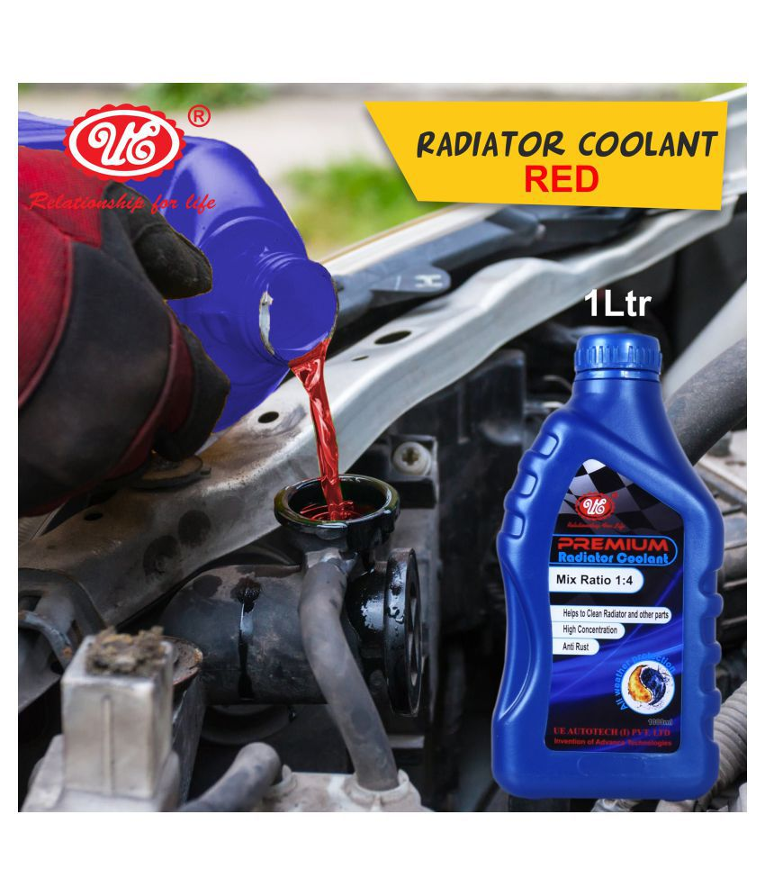UE Premium Car Care Radiator Coolant Concentrate -1 Liter (Red) Car Accessories/Automotive Products