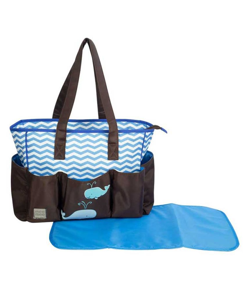 Mee Mee Multi Colour Polyester Diaper Bag   45 cm
