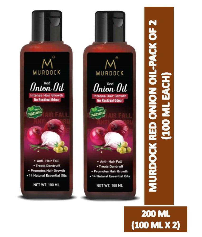Murdock Red Onion Oil Anti Hair Fall, Intense Hair Growth 100 mL Pack of 2