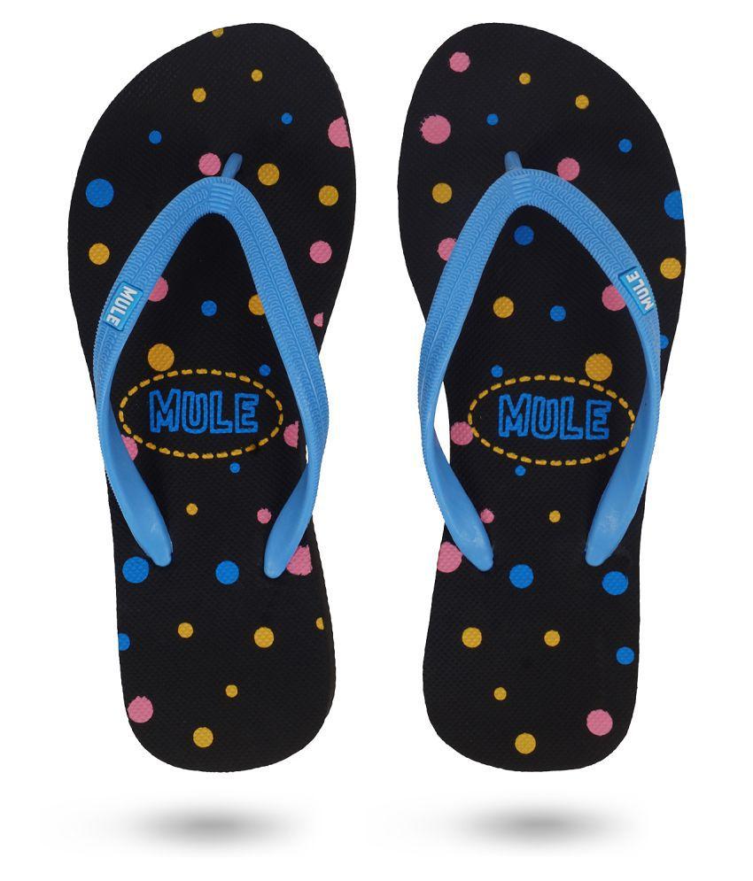 Mule Black Slippers