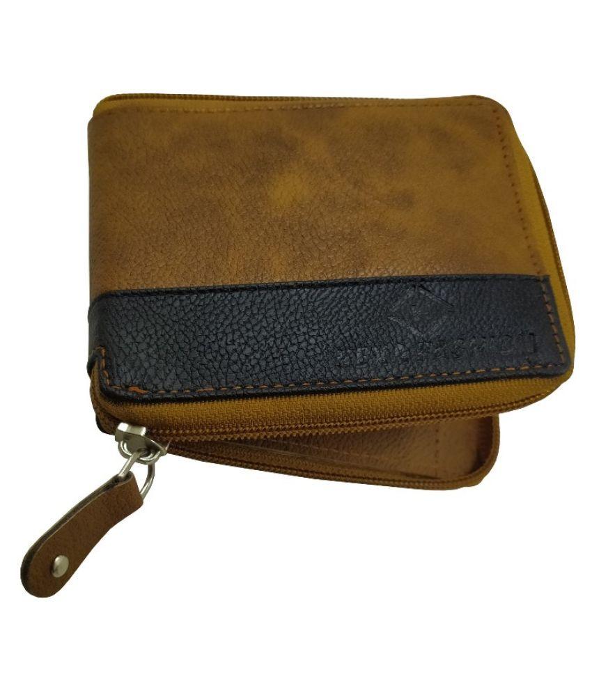 Nexa Fashion Faux Leather Tan Casual Regular Wallet