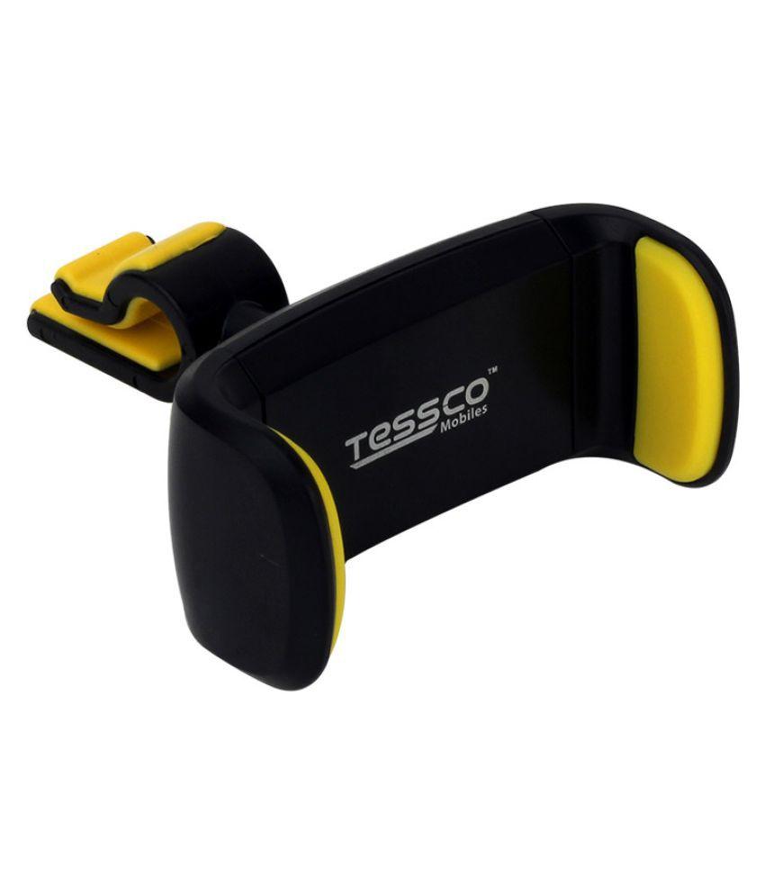 Tessco Car Mobile Holder Horizontal Clip for Air Vent   Yellow