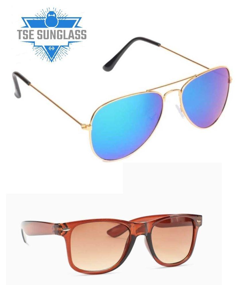 tse - Multicolor Wayfarer Sunglasses ( KC-AVIATOR COMBO )