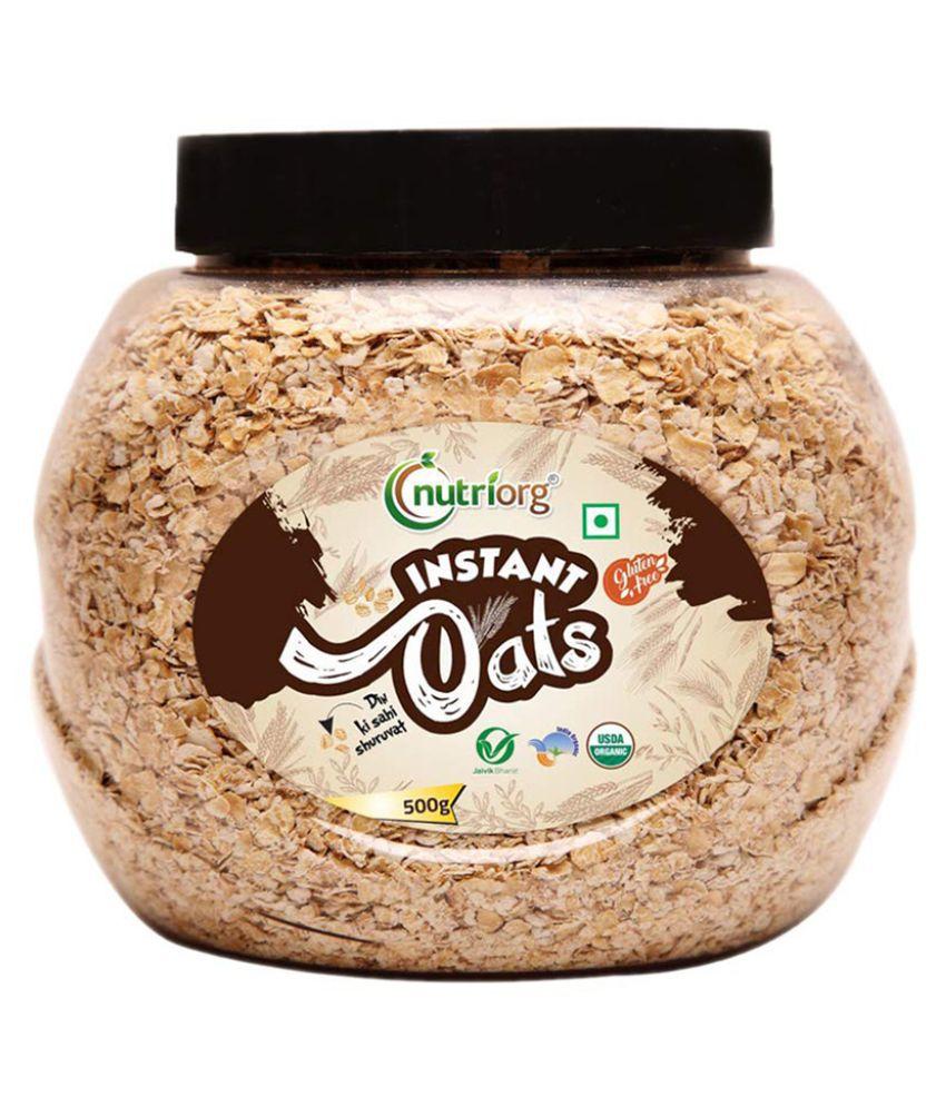 Nutriorg Organic Instant Oats 500 gm