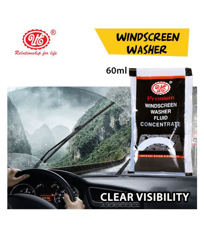 UE Premium Windscreen Washer, Fluid Concentrate Fast Cleaning of Rain/water Drops For Safe Driving - 60 ML (Pouch) Car Care/Car Accessories/Automotive Products