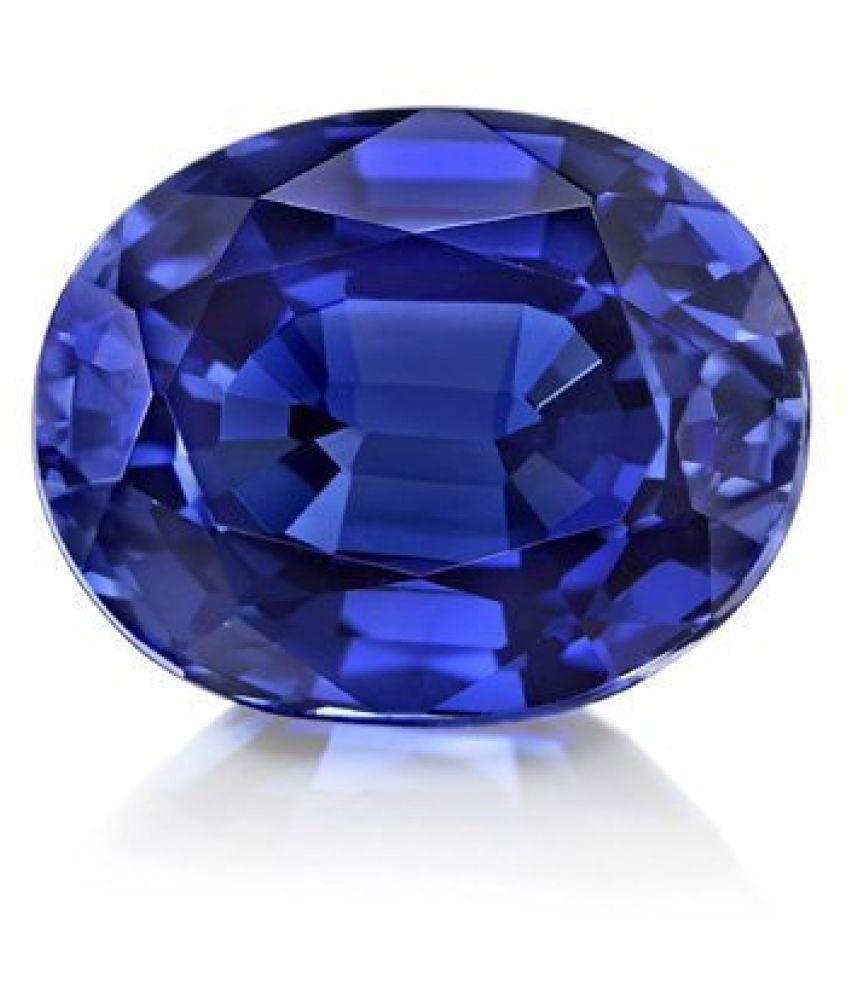 Todani Jems 6.25 Ratti 5.62 Carat Certified Blue Sapphire Neelam Gemstone for Astrological Purpose