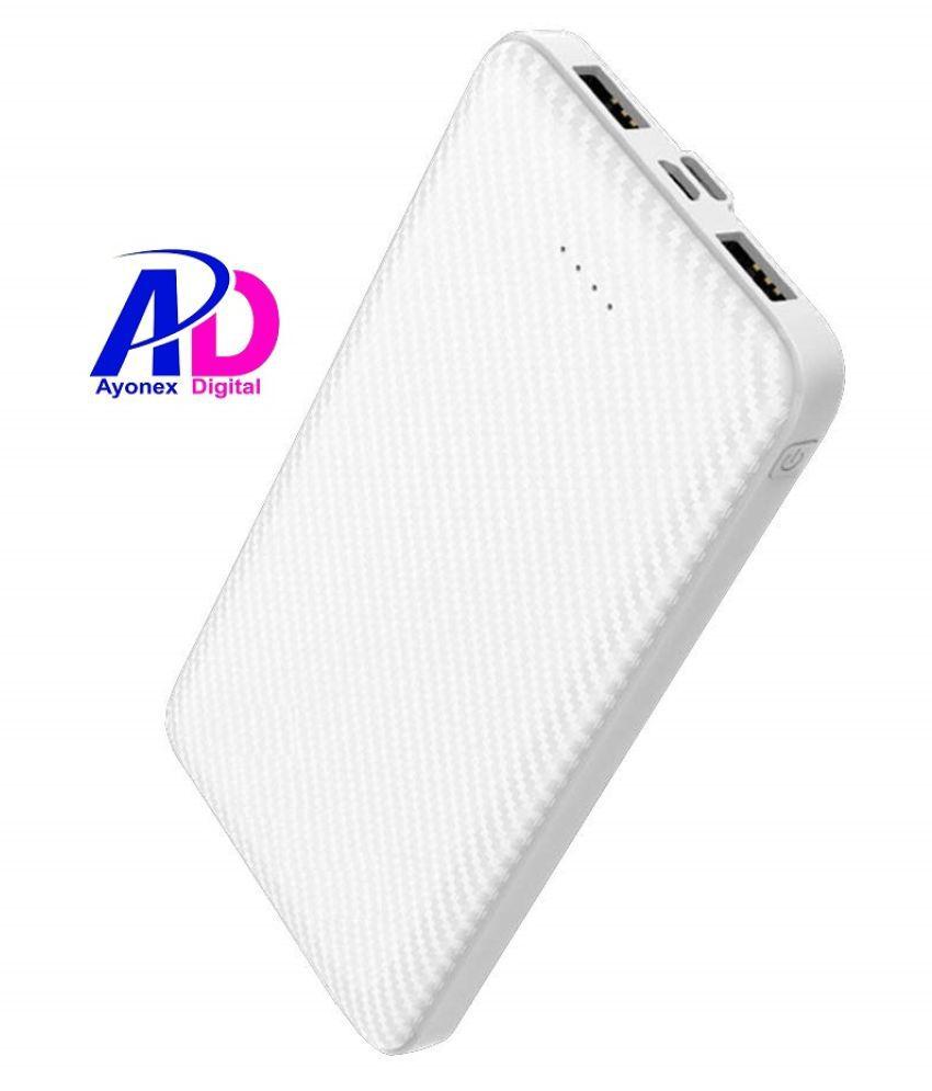 AYONEX DIGITAL AD10LP 10000 -mAh Li-Polymer Power Bank White
