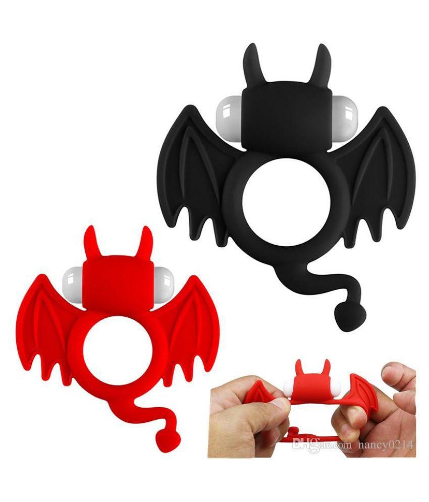 Bat Shape Vibrating Delay Penis Ring For Extra pleasure + Free Kaamraj Lubricant