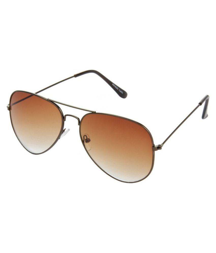 Hrinkar - Brown Pilot Sunglasses ( hrs17 )