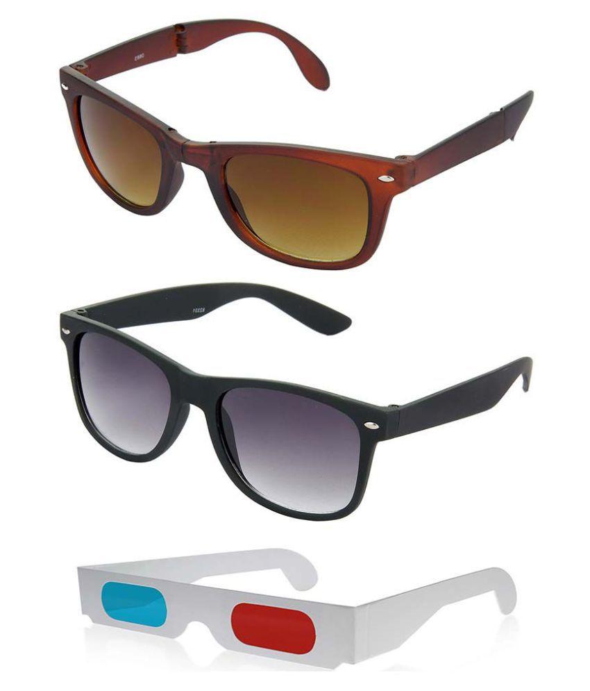 Hrinkar - Brown Square Sunglasses ( hcmb205 )