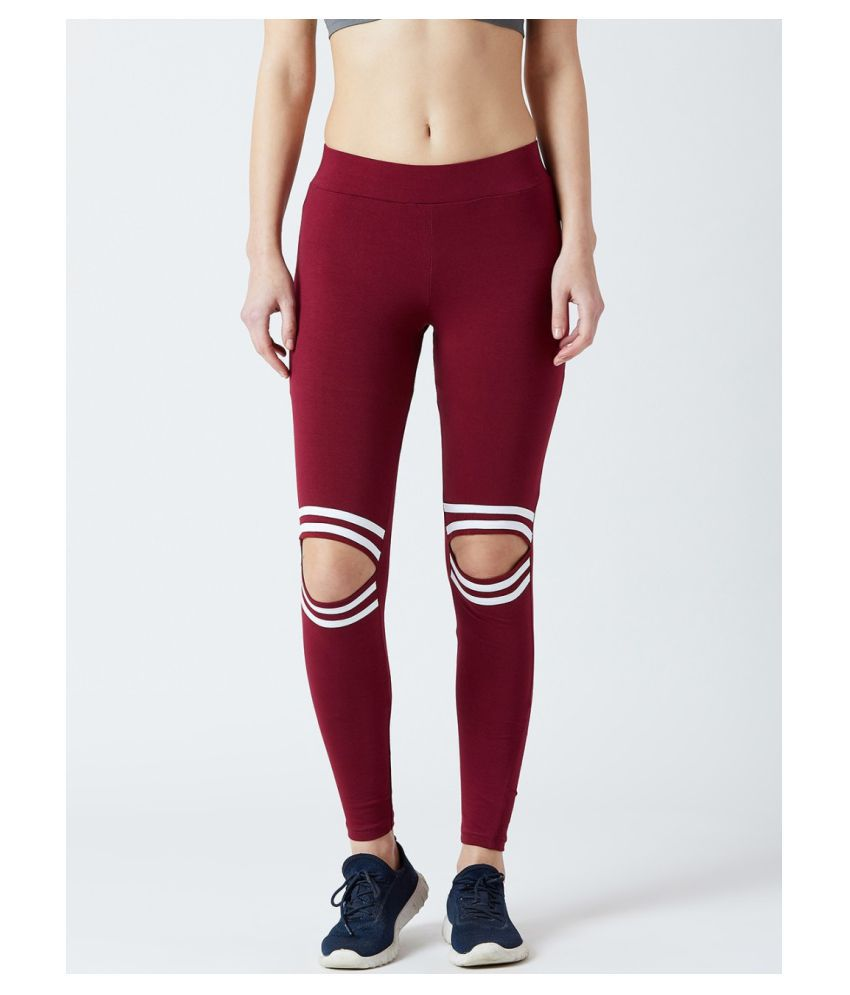 Bombay Clothing Company Cotton Lycra Jeggings - Maroon