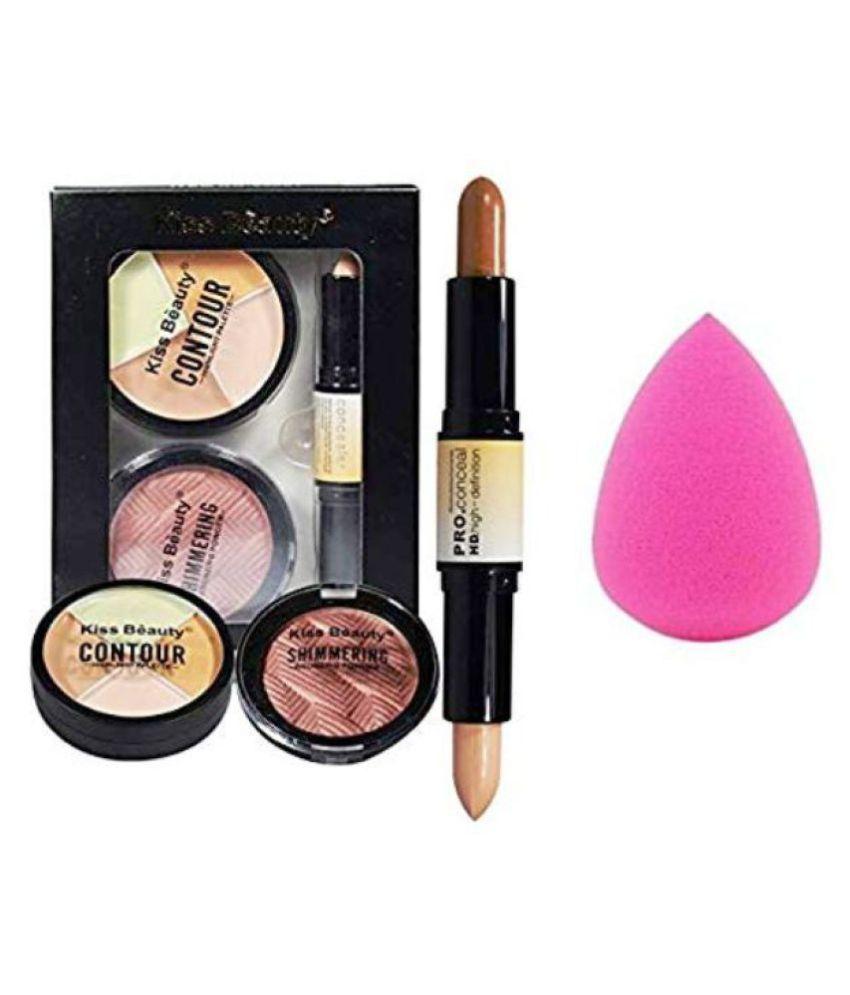 Lenon Beauty Pink Sponge & Contour Kit Pack of 4