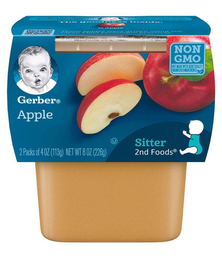 Gerber Apple Snack Foods for 6 Months + ( 226 gm ) Pack of 3