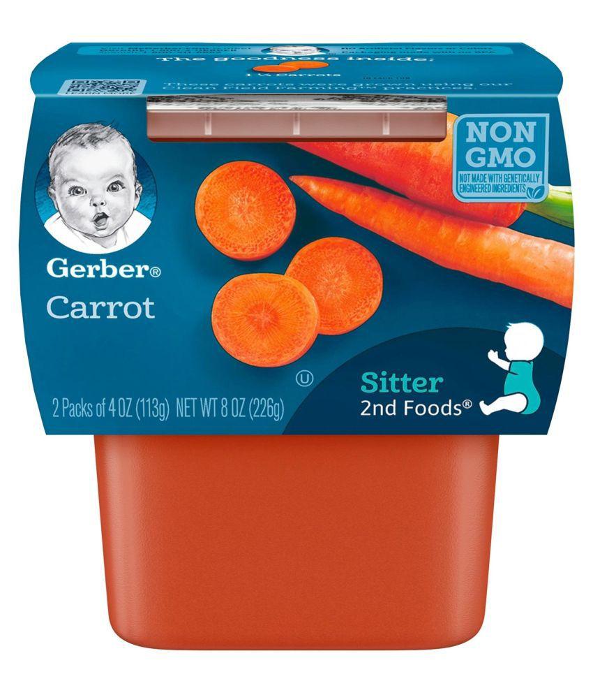 Gerber Carrots Snack Foods for 6 Months + ( 226 gm )