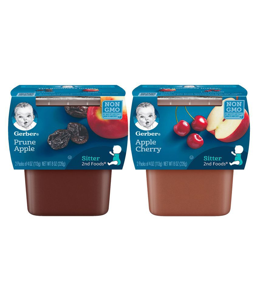 Gerber Mixed Fruits Snack Foods for 6 Months + ( 226 gm ) Pack of 2