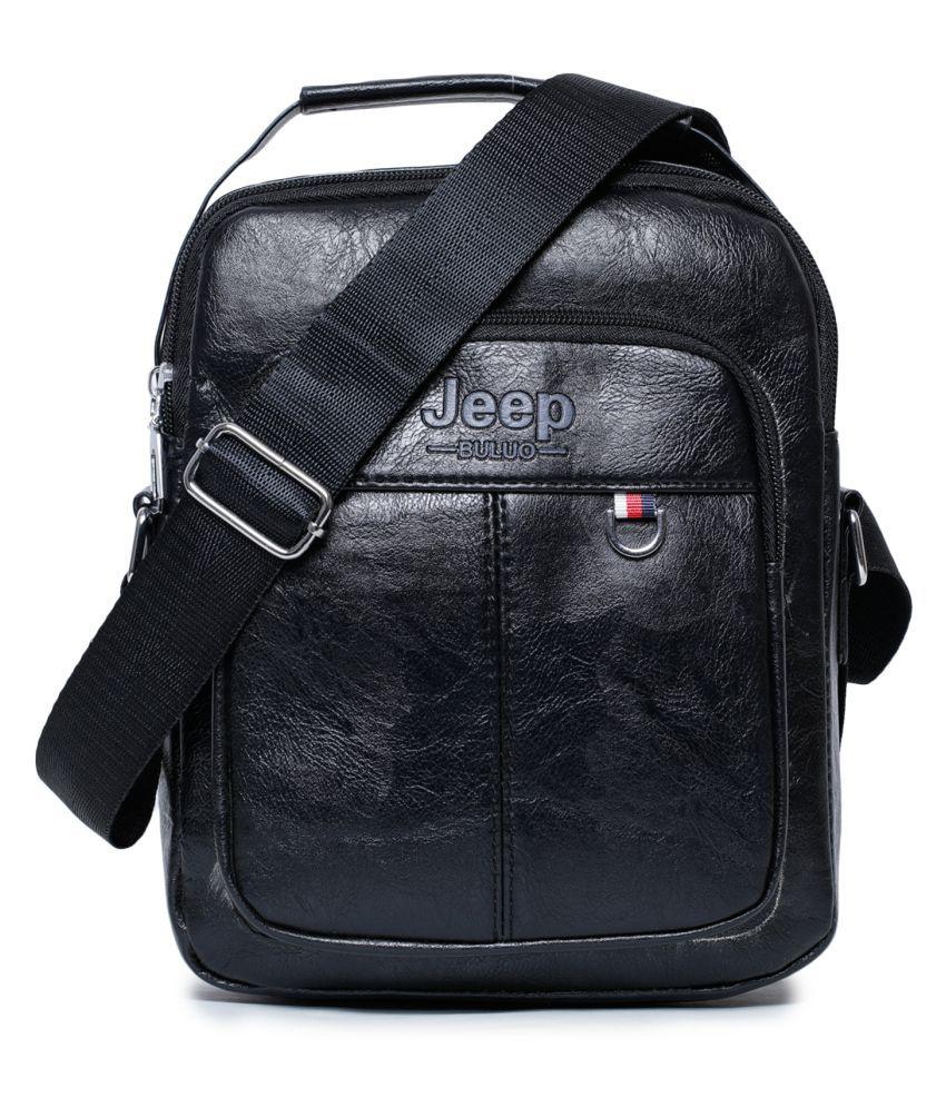 KOMTO Black Office Messenger Bag