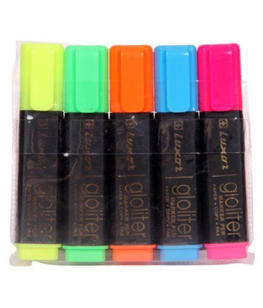Luxor Hi-lighter Pen, Pack of 25 Highlighter Pieces