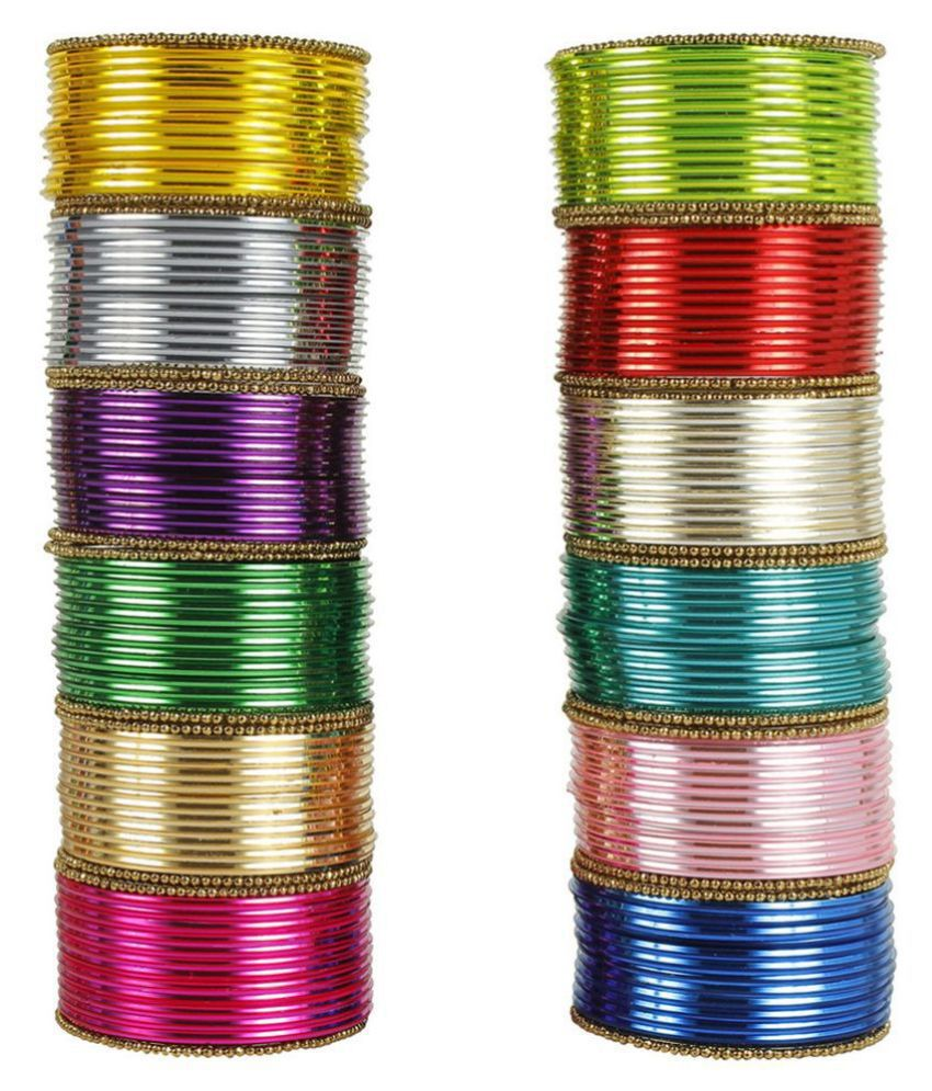 MUCH MORE Beautiful Charming 12 Different Color Metal Bangle Box For Women