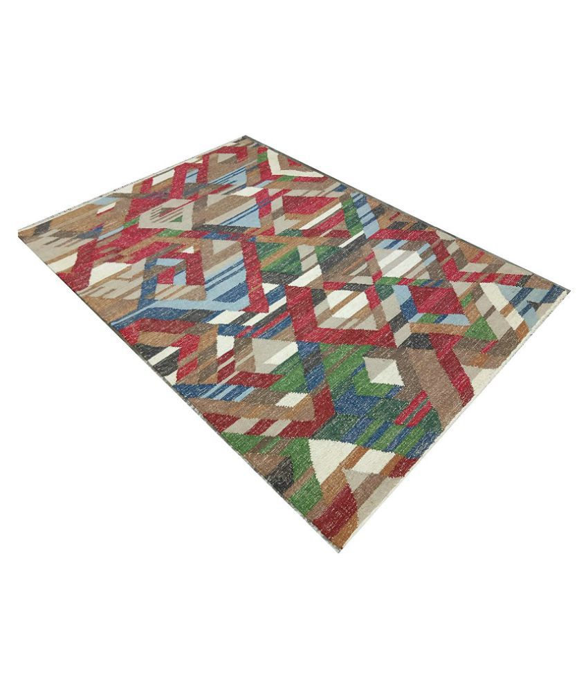 FIROZ AND BROTHERS Multi Jute Carpet Contemporary 4x6 Ft