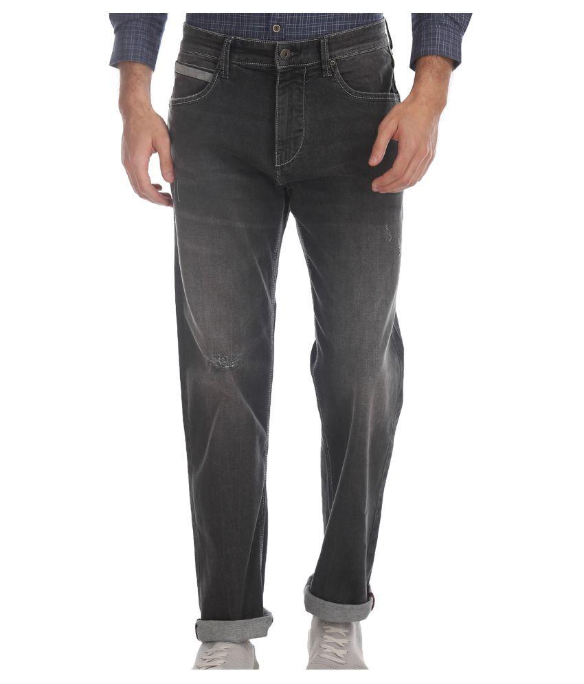 Flying Machine Black Regular Fit Jeans - Buy Flying ...