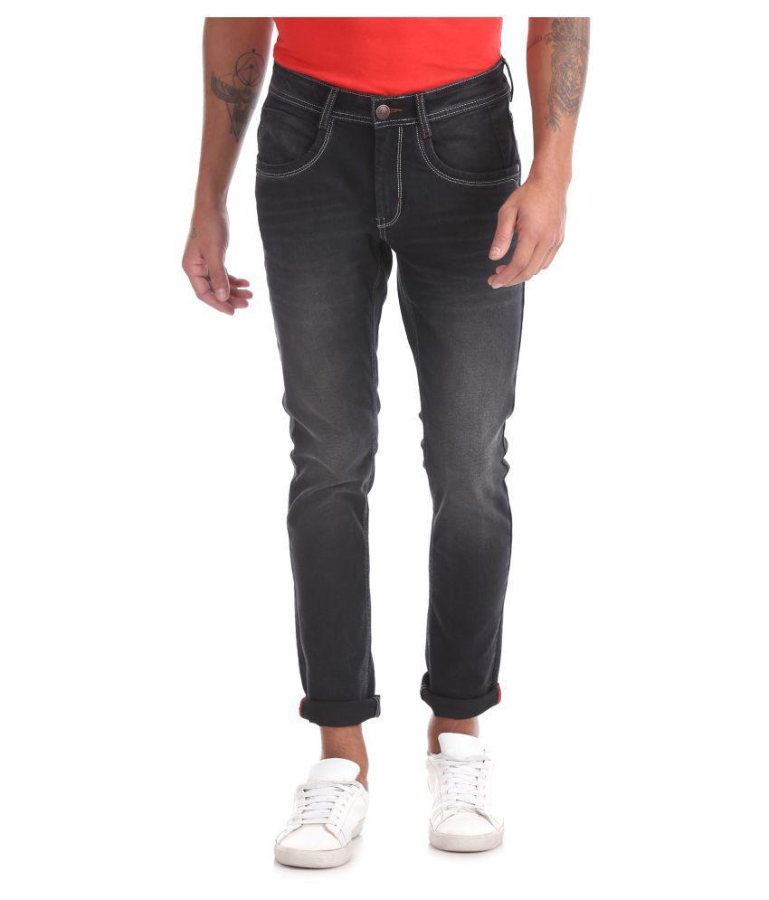 RUF & TUF Black Slim Jeans