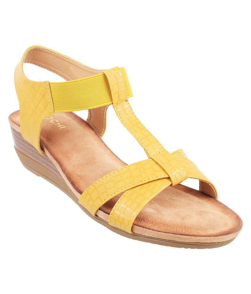 Mochi YELLOW Wedges Heels