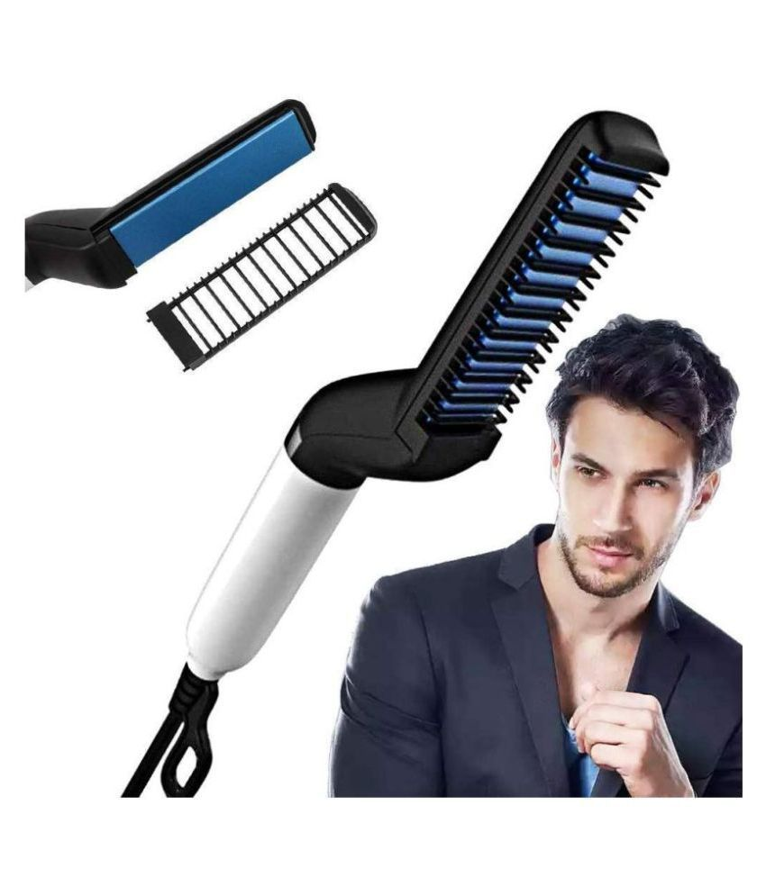SHARUJA Modeling comb Hair Straightener ( BLACK AND BLUE )