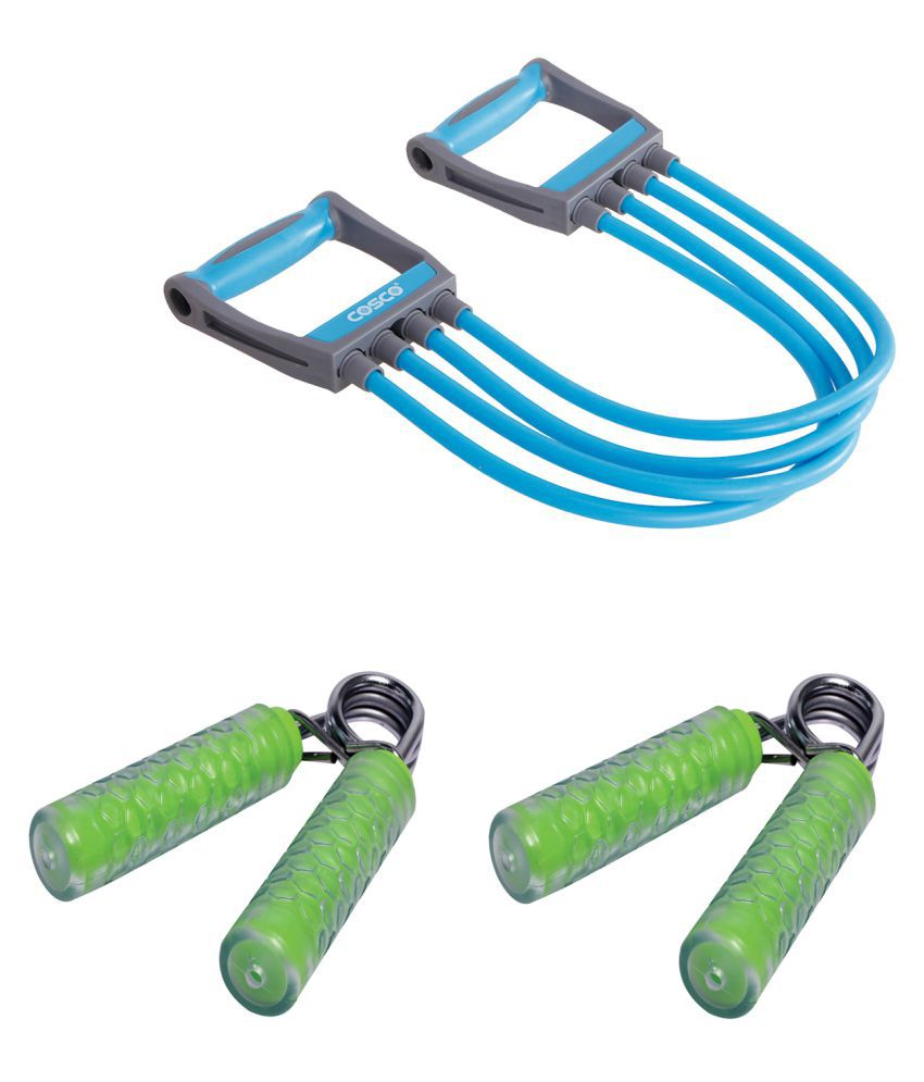 Cosco Fitness Kit  amp; Combo   1 Chest Expander  #034;Octane #034;, 2 Fitness Hand Grip  #034;clutch #034;